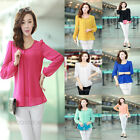 HOT Sale! Fashion Women's Loose Chiffon Tops Long Sleeve Shirt Casual Blouse New