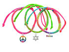 **STAR OF DAVID** Peace Macrame Friendship Bracelets Choice (Set of 3) ~~USA