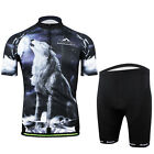 Ferrand-New Men's Cycling Suit Bike Jersey Short Sleeves+Shorts Riding-Wolf Howl