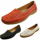 Cushion Walk Ladies Flexible Comfort Flat Slip On Casual Work Coral Black Shoes