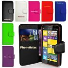 Flip Leather Wallet Case Cover & Film For Various Nokia Lumia Mobile Phone