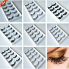 5 Pair Natural Women OR Thick Fake False Eyelashes Eye Lash 18 Style Handmade 02