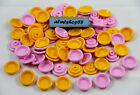 LEGO - Yellow  Pink Dish Plates - Bowl Platter Dinner Cook Food Kitchen Lot