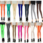 Full Length Neon Candy Shiny Yoga Disco Leggings Pants Trousers, All Colours