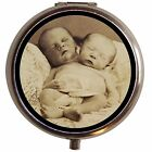 Siamese Conjoined Baby Sideshow Twins Pill Box Pillbox