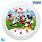 Mickey Mouse Clubhouse Personalised Childrens Wall Clock Kids Gift - ADD A NAME