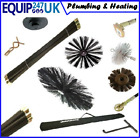 DRAIN ROD RODS SET FLUE CHIMNEY DRAIN BRUSH WORM SCREW PLUNGER DROP SCRAPER NEW