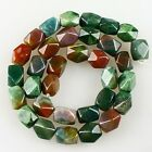 K59519 12x9mm Faceted Indian agate loose beads 33pcs