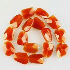 K59550 24x18x7mm Faceted Red agate loose beads 16pcs