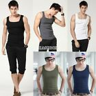 Casual Mens Slim Fit Sleeveless Tank Tops Vest A-shirts Undershirts Sports M-XL