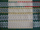 5 metres Dovecraft knitting in eyelet lace 35mm wide Christmas gold silver