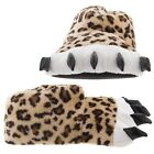 New Leopard Paw Slippers for Women and Men Claws Fuzzy Furry Spots Adult Novelty