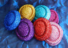 GLITTERY HAT / FASCINATOR BASE - OVAL SHAPE - For fascinators, hats & craft use.