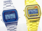 SSG Gold Silver Sports Casual 80's Unisex Retro Digital Stainless Look Watch