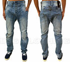 Mens Humor Jeans Designer Drop Crotch Zanka Trendy Tapered Fit Washed Out Denim