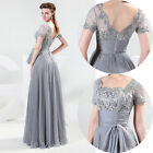 2014 Long Chiffon Lace Evening Formal Bridesmaid Wedding Gown Prom Party Dress