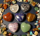 "Gemstone Heart Drilled 1"" Pendants and Stone Beads Mix! series ab"