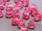 6mm 200/400/600/800/1000pcs PINK FACETED ACRYLIC LUCITE BICONE BEADS TY2992