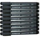 Staedtler Pigment Liner Fineliners Drawing Pens Full Range 0.05mm to 0.8mm