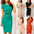 5 Colors Fashion OL Business Dress Knee-length Bodycon Slim Pencil Party Dress