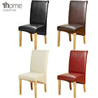 Quality PU Leather Dining Chair Wooden Leg Room Furniture Black Brown Ivory Red