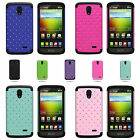 For LG Lucid 3 - Dual Layer Hybrid Diamond Studded Bling Phone Cover Case