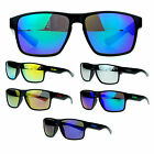 Kush Mens Sports Reflective Color Mirror Lens Rectangular Plastic Sunglasses