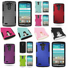 For LG G3 (2014) - Rugged Dual Layer Mesh Hybrid Phone Cover Case