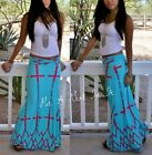 SEXY FOLD OVER WAIST TURQUOISE BLUE PINK CROSS TALL LONG MAXI SKIRT S M L