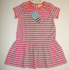 NWT HANNA ANDERSSON Comfy Beach Dress 80 or 90 Pink/Gray Stripes 12-24 2T 3T