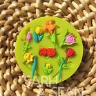 Rose Flower silicone mold for fimo resin polymer clay fondant cake chocolate0223