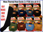 3 pairs MENS THERMAL 2.3 TOG HEAVY BRUSHED HOLDS IN HEAT WINTER THICK SOCKS 6-11