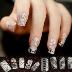 Fashion White Lace 3D Nail Art DIY Stickers Tips Decal Nail Manicure Decorations