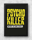 Psycho Killer Print, Talking Heads, Alfred Hitchcock, David Byrne
