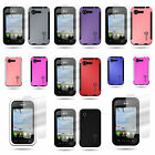 For LG Optimus Zone 2 / Optimus Fuel - Hybrid Case and Clear Screen Protector