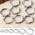 300X 5-12mm Silvery Stainless Steel Double Loop Jump Rings Split Open Jumprings