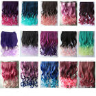 Fashion high-temperature braid Colorful Hair Extensions curly straight 5clips