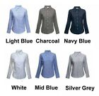 Ladies Long Sleeve Formal Shirts Size 8 to 24 WORK CASUAL LEISURE - BTC STYLES