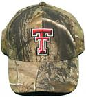 NEW! Texas Tech Red Raiders Buckle Back Hat Embroidered Mothwing Camo Cap