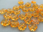 10mm 60/100/../500pcs CLEAR ORANGE ACRYLIC LUCITE FLOWER BEADS TY05579