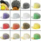 Cool Party Punk Hedgehog Unisex Mens Womens Spikes Rivets Spiky Studded Cap Hat