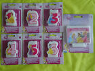 DISNEY PRINCESS - AGE CANDLE - 1 , 2 , 3 , 4 , 5 , 6 and LARGE CAKE CANDLE