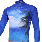 XINTOWN Mens Cycling Clothing Outdoor polyester bule Long Sleeve  Bike Jersey F