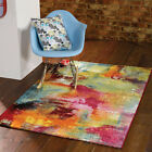 Modern & Funky, Bright Designer Artist Multi Colour Rugs 3 SIZES - Bouden Multi