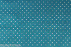TEAL BLUE MINI DOTS VINYL OILCLOTH PVC WIPE CLEAN TABLECLOTH CO click for sizes