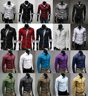 2014 Various Mens Stylish Formal Slim Fit Dress Shirts Long Sleeve Top Designed