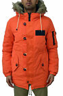 Mens Designer Bellfield Parka Jacket With Fur Hooded Totto Orange Fish Tail Coat
