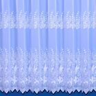Vienna Embroidered Woven Voile Net Curtain - Sold By the Metre - Free Postage!