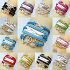 New DIY Jewelry Fashion One Direction Leather Infinity Bracelet U Pick For Party
