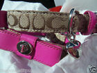 NEW iCOACH SOLD OUT SIGNATURE COACH BOW SMALL DOG COLLAR S so pretty